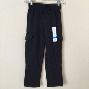 Jumping Beans Boys Fleece Pant Cargo Black Size 7